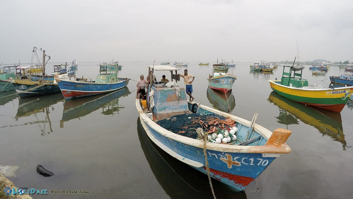 Fishing boats in Jaffna, Sri Lanka