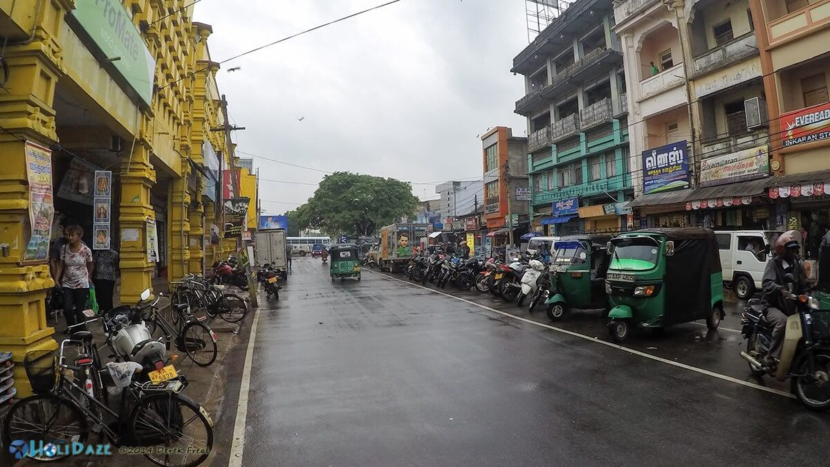 The streets of Jaffna