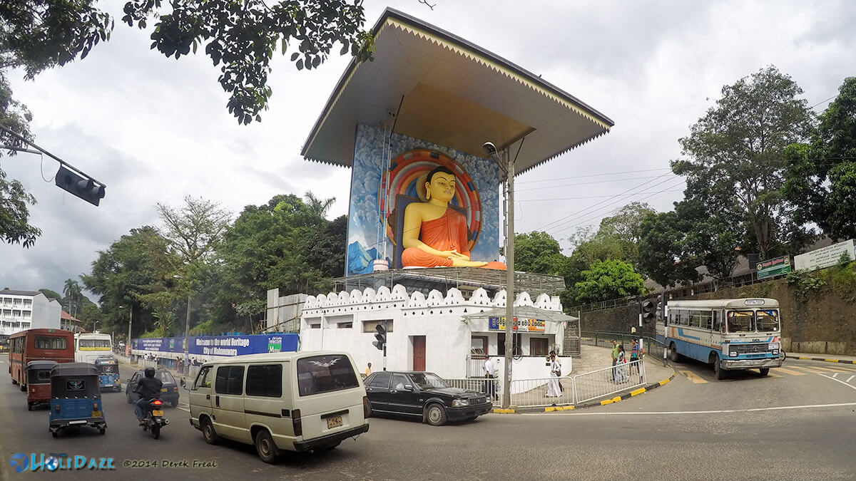 The traffic in Sri Lanka is much more tame than India. Cars in Kandy stopped for me to walk across this street and photograph the Buddha.