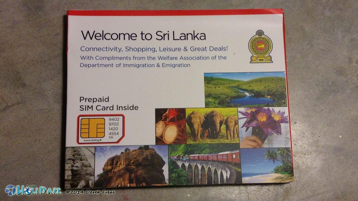 Sri Lanka tourism welcome pack and SIM card for tourists
