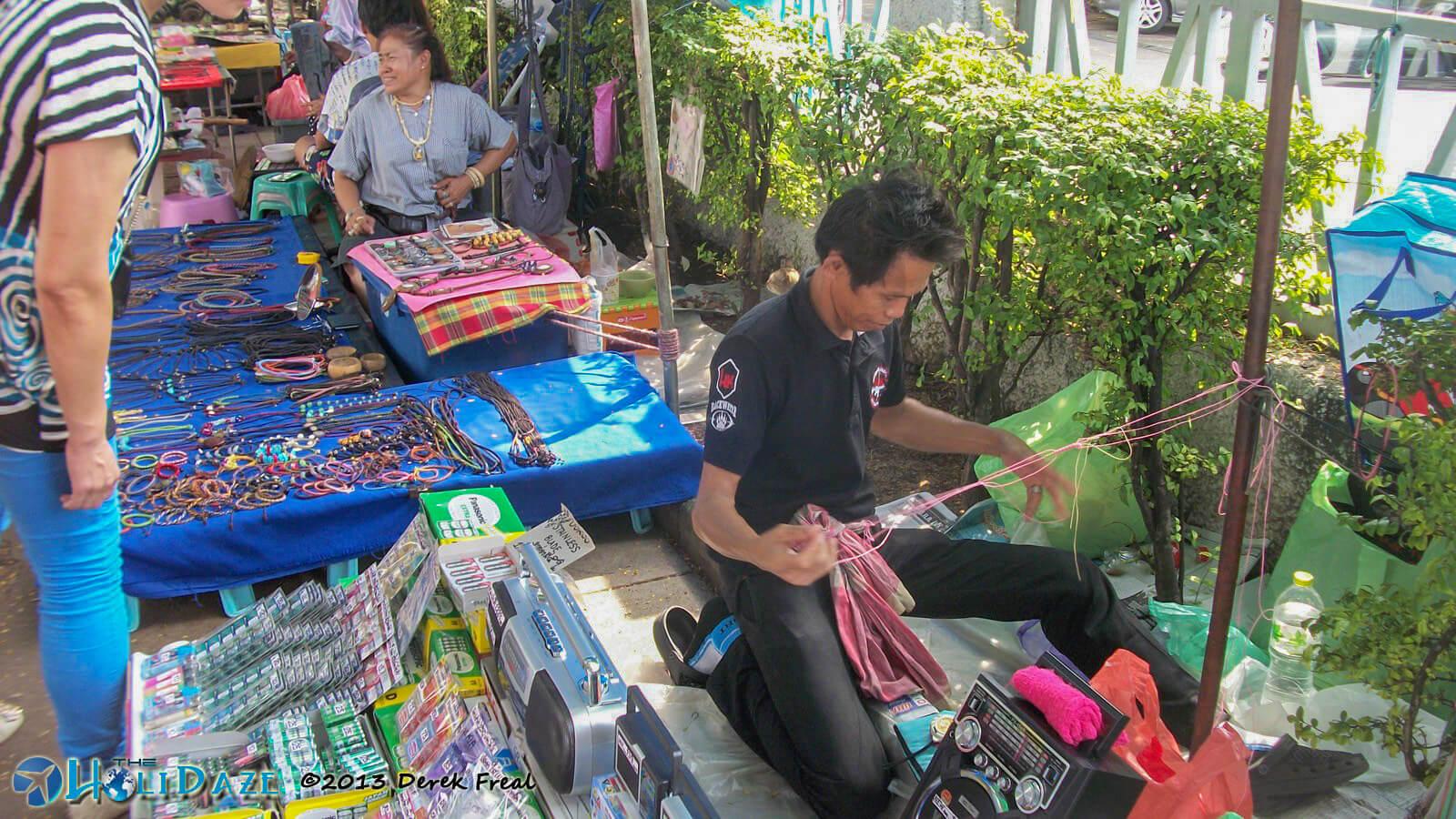 Street vendors near the Grand Palace in Bangkok, Thailand