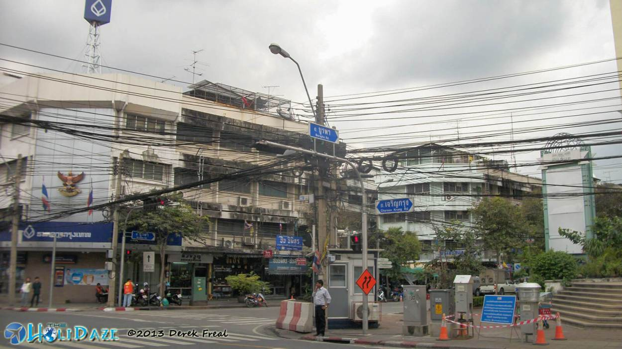 First Impressions of Thailand? Bangkok electrical wires are chaotic, to say the least. I'd hate to be an electrician in Thailand.