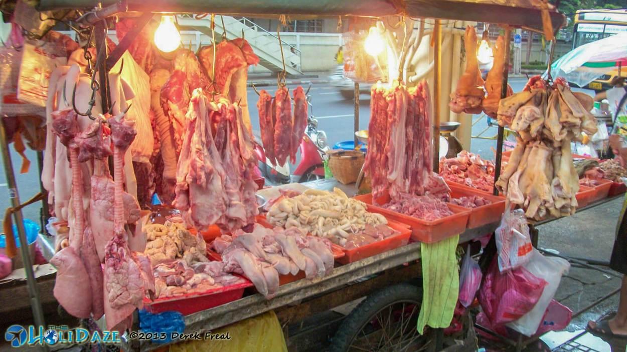 Bangkok street butcher