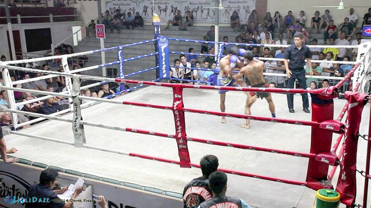 Muay Thai kickboxing match at Suwit Boxing Stadium is one of the top things to do in Phuket, Thailand