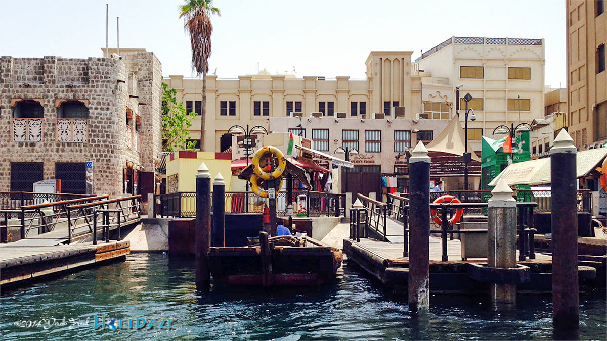 Visit Abra Station and take a water taxi ride across the river, one of the best nearly free things to do in Dubai
