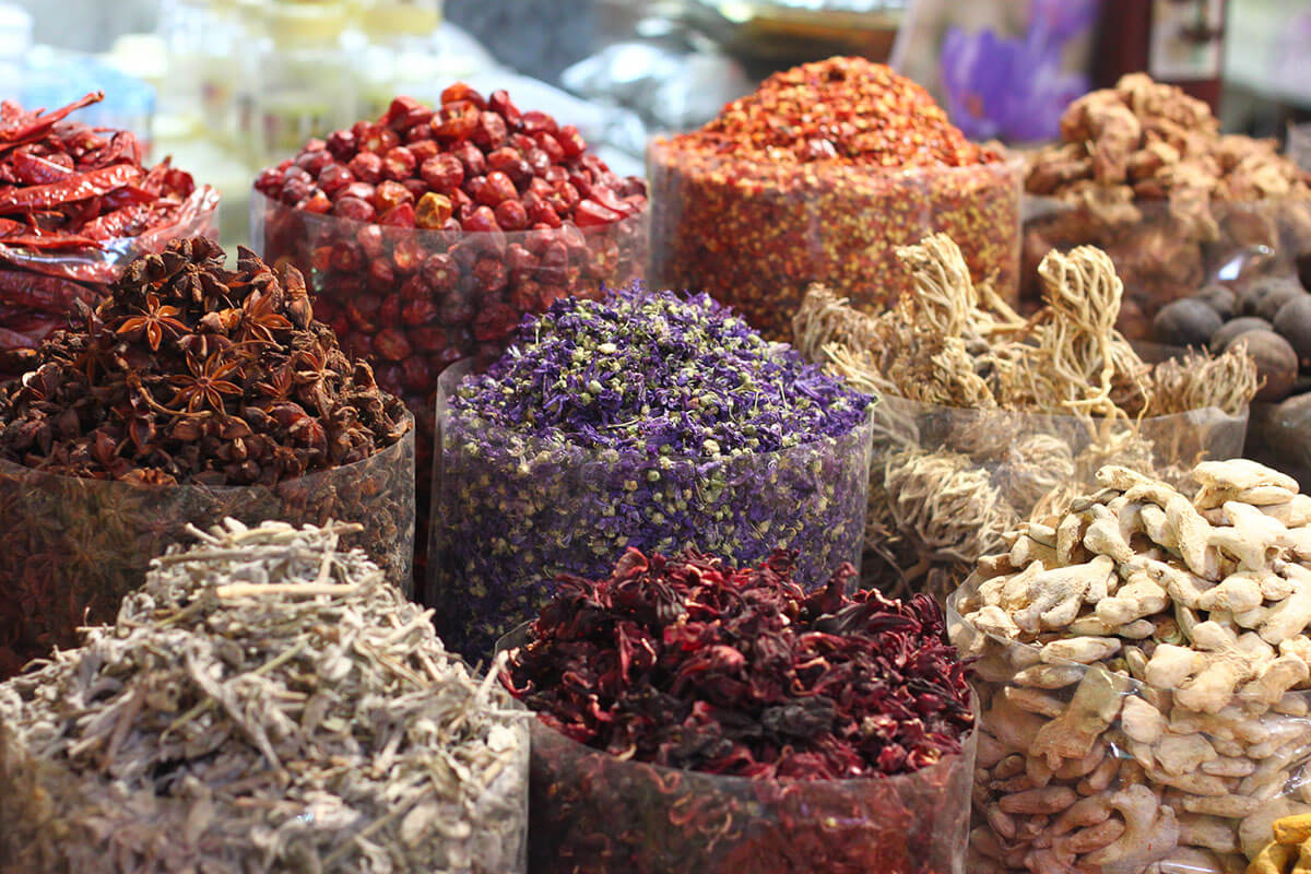 Check out the Spice Souk, one of the best free things to do in Dubai