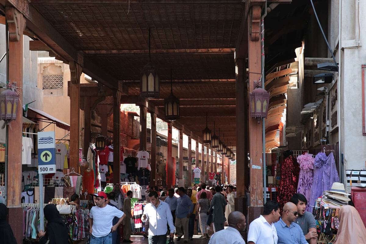 Check out the Textile Souk, one of the best free things to do in Dubai