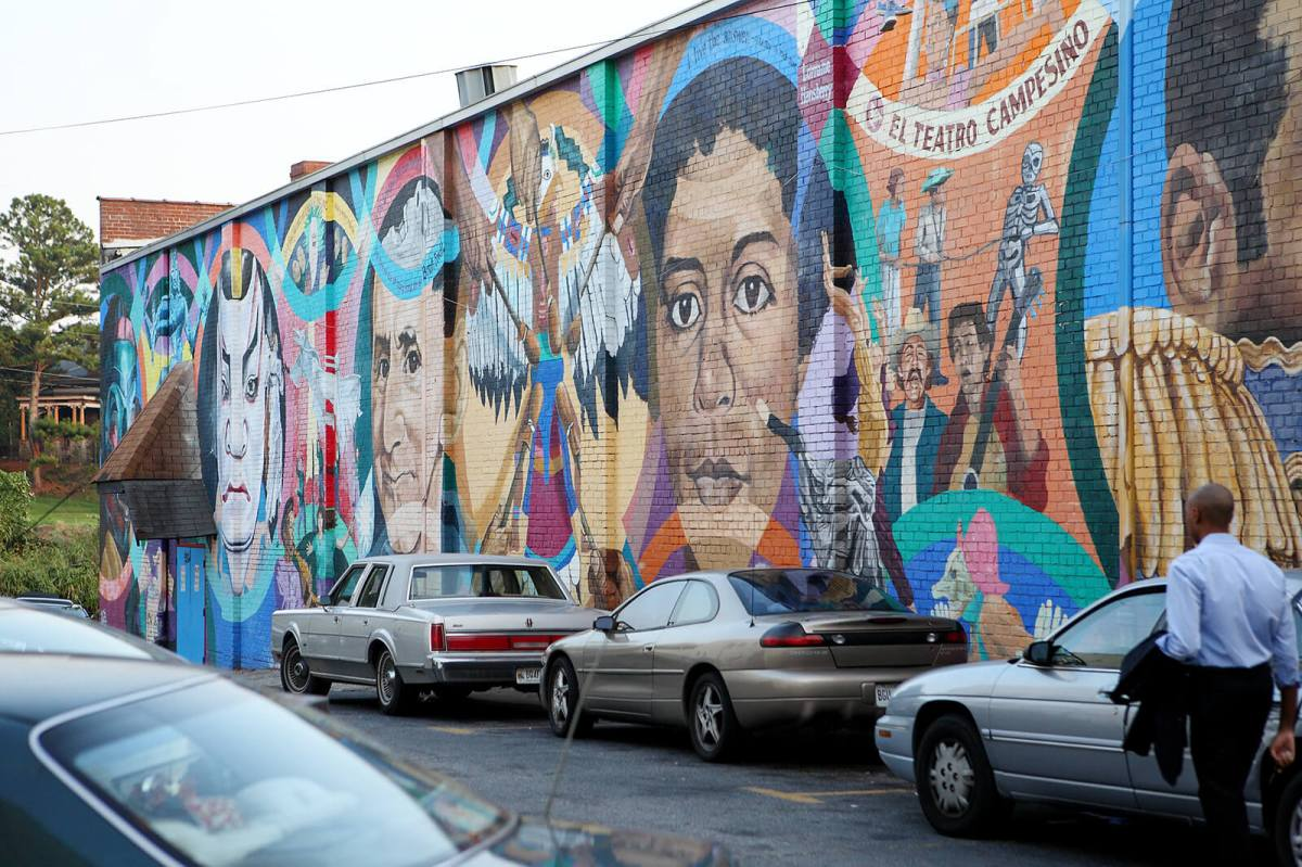 Street art in Little Five Points, Atlanta's most unique and offbeat part of town