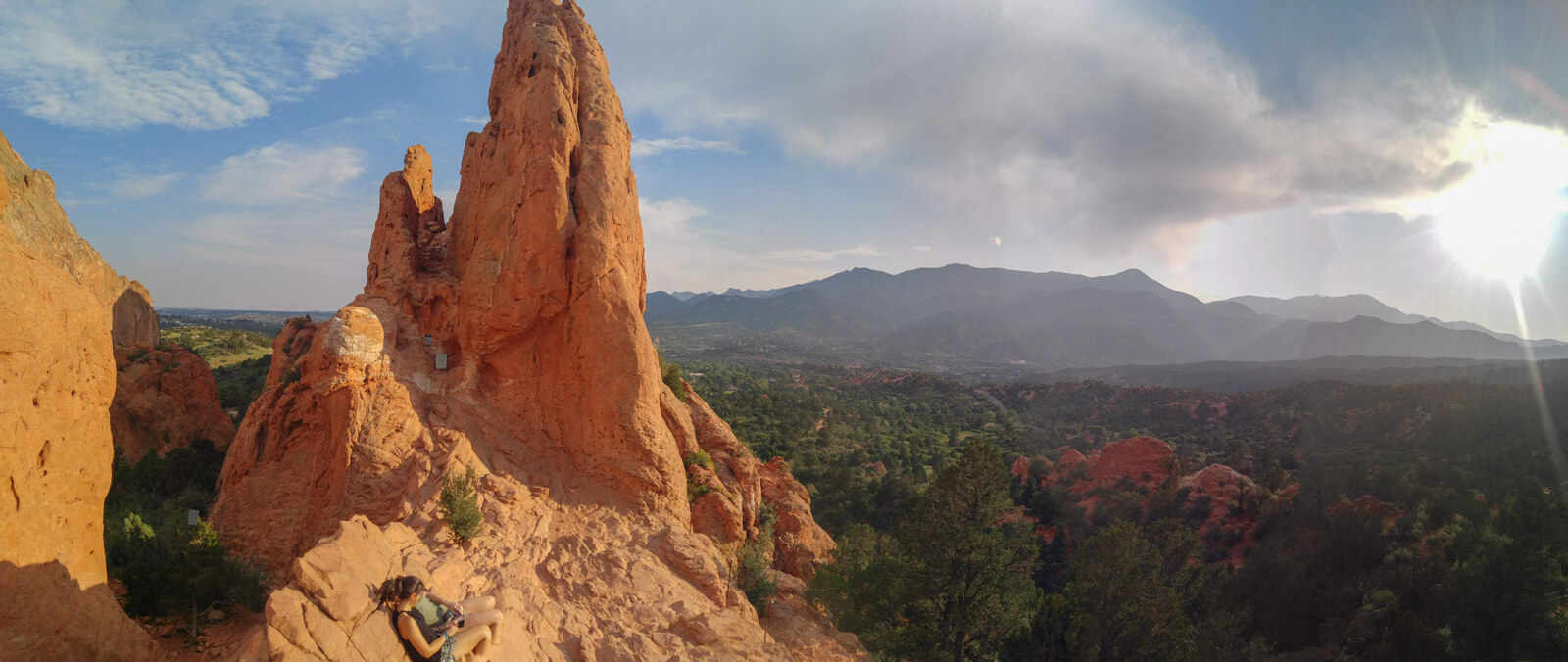 Garden Of The Gods panoramic sunset