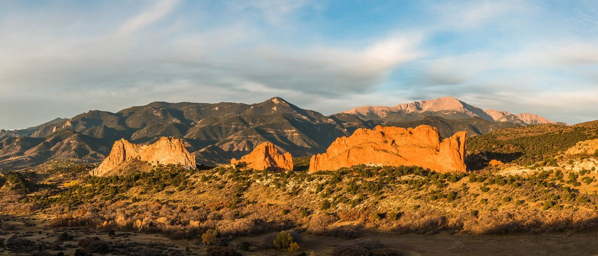 Sunrise at Garden Of The Gods in Colorado Springs, Colorado, USA
