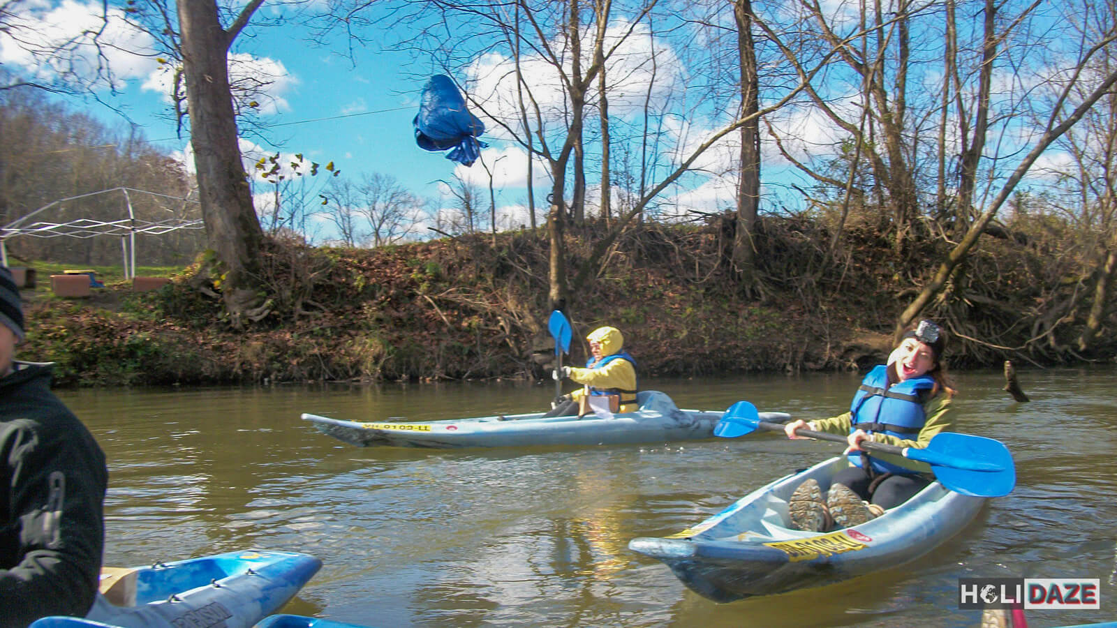 Kayaking the Hocking River in Hocking Hills, Ohio