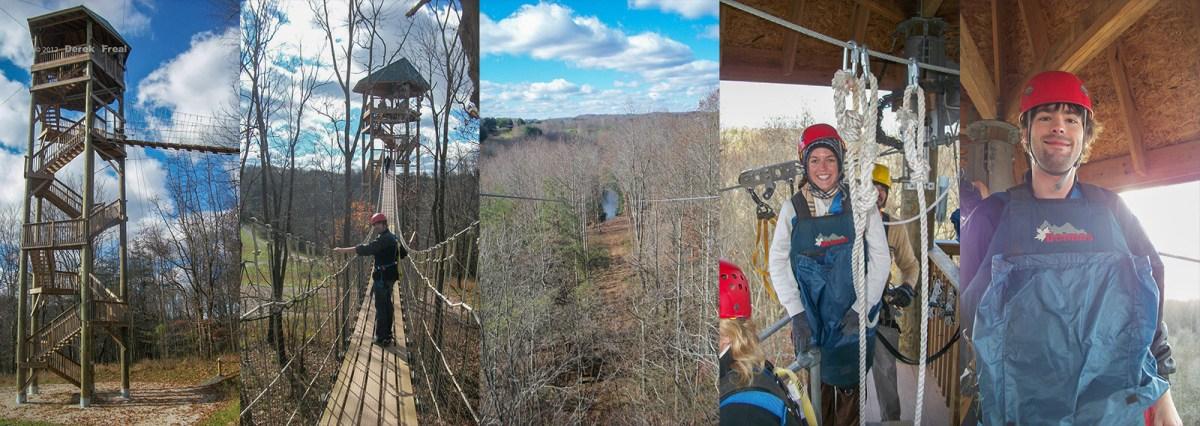Ziplining in Hocking Hills, Ohio