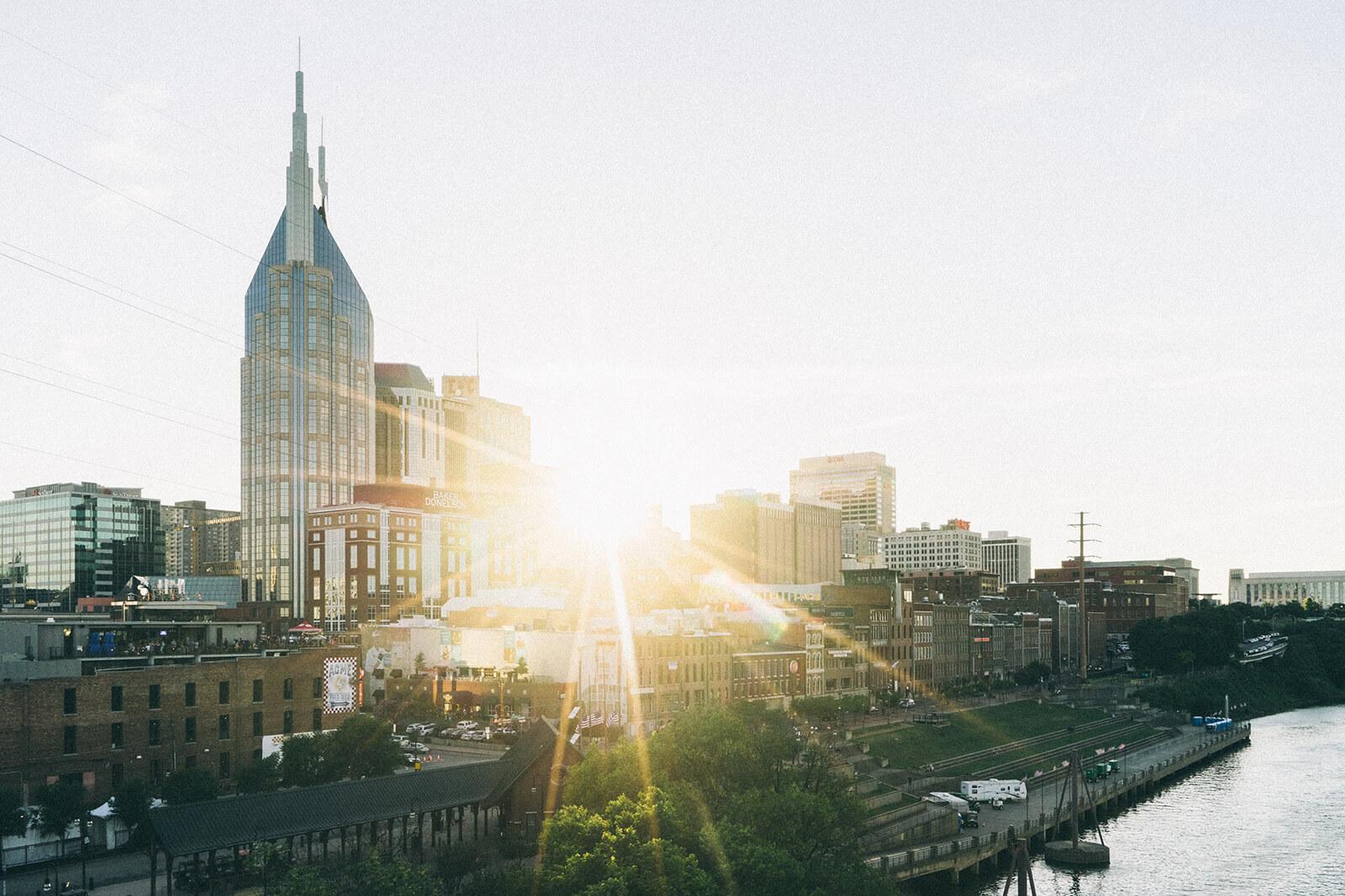 Sunrise in Nashville, Tennessee