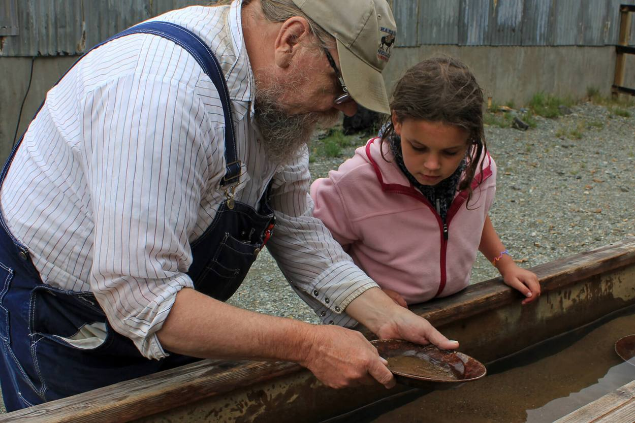 Gold panning at the Old Hundred Mine in Silverton, one of the top offbeat, unique things to do in Colorado