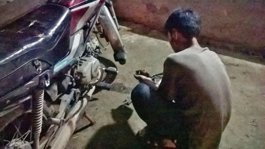 Night mechanic in Vietnam