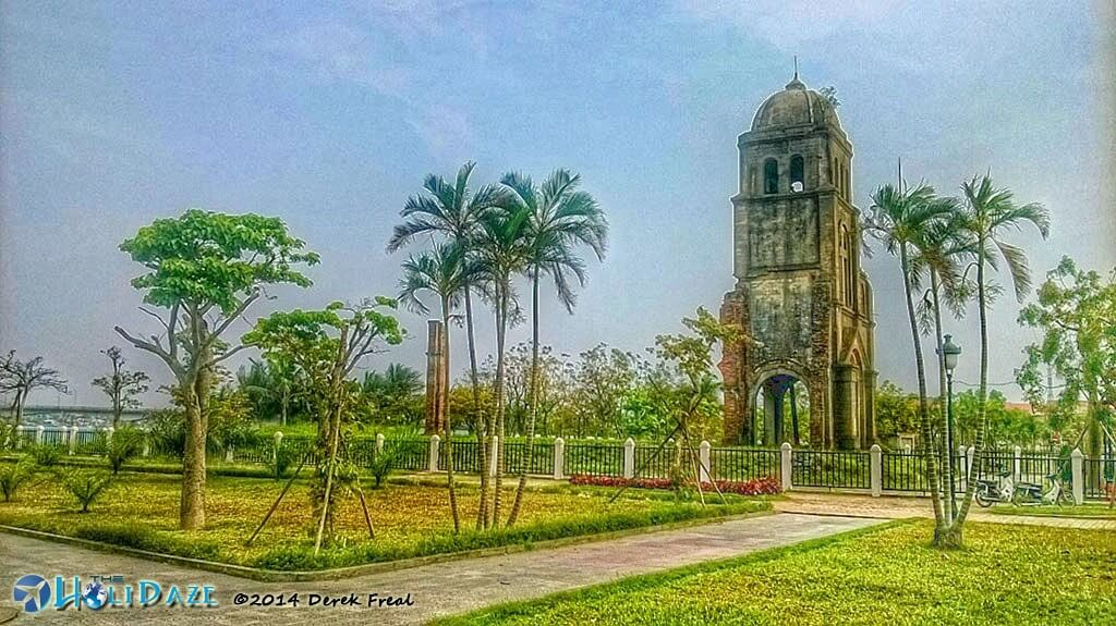 The remains of war-torn Tam Toa Church in Dong Hoi, Vietnam