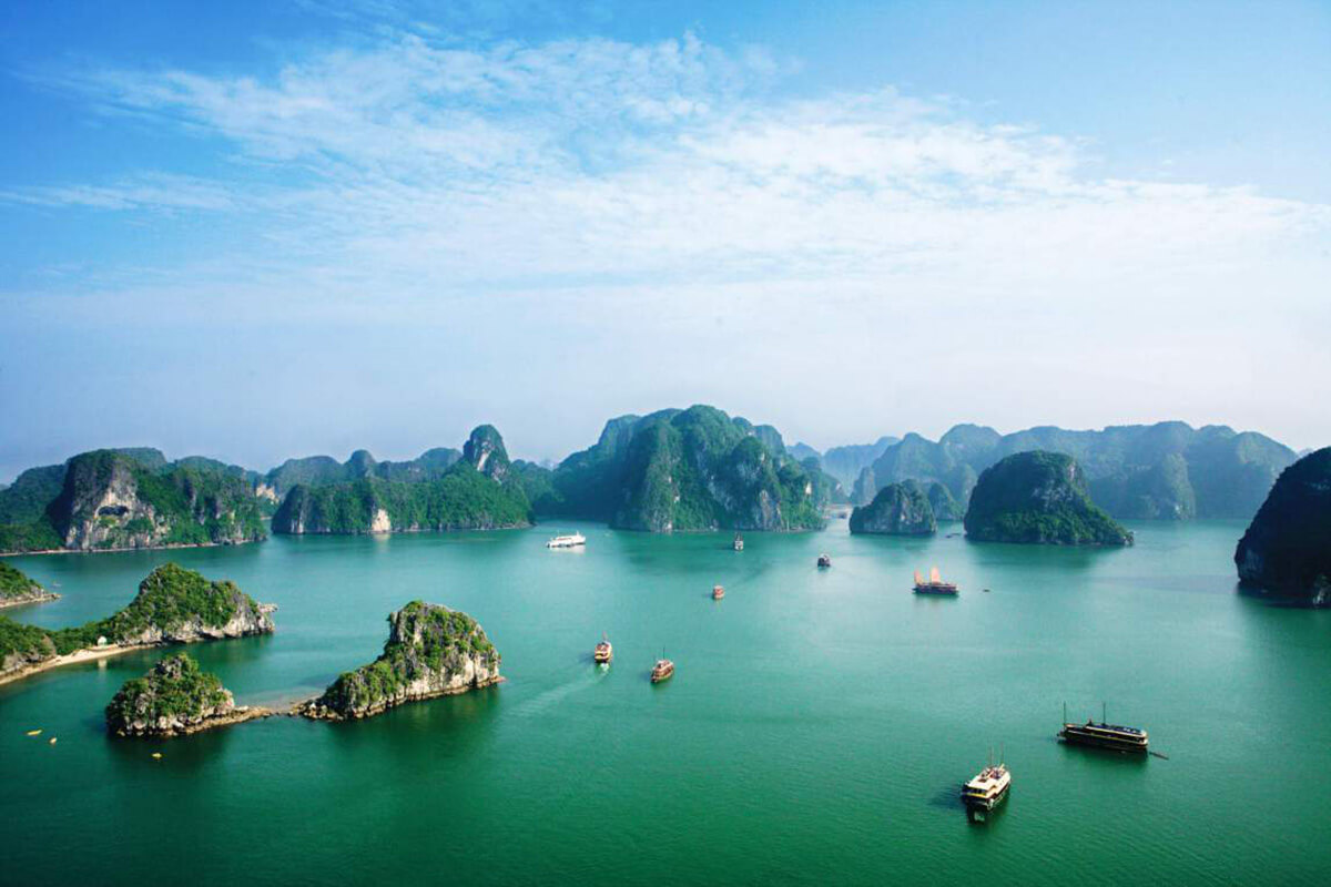 Halong Bay in Vietnam, a UNESCO World Heritage Site