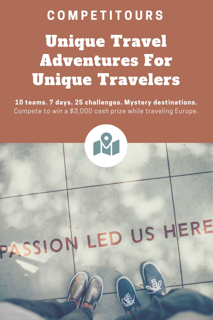 Competitours adventure travel trips across Europe -- 10 teams on a mystery route competing for a $3000 cash prize #traveltips #europe #adventuretravel #adventures #offbeat #luxurytravel #OffbeatTravel