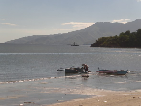 View from the beach at Mango's Resort at Subic Bay in the Philippines