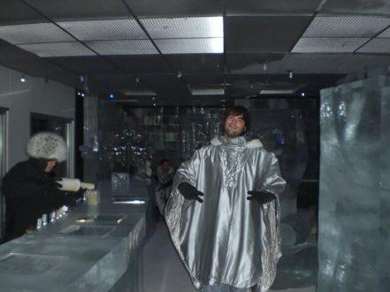 Derek Freal at Ice Bar Tokyo in Japan