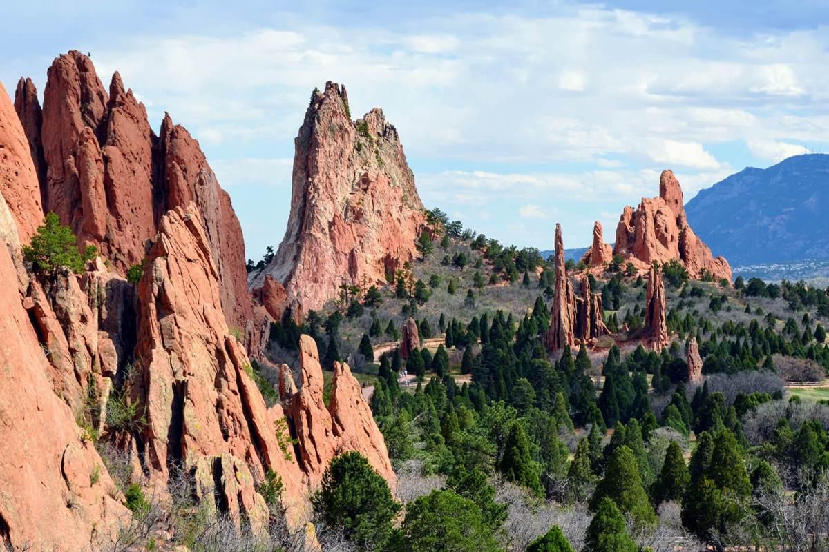 Garden Of The Gods in Colorado Springs, Colorado, USA