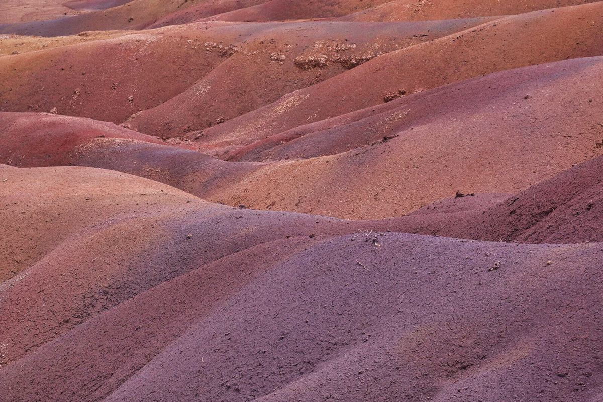 The 7-Colored Sands Of Chamarel, Mauritius