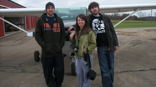 Will, Kristen, and I posing with the plane just before our aerial photography flight