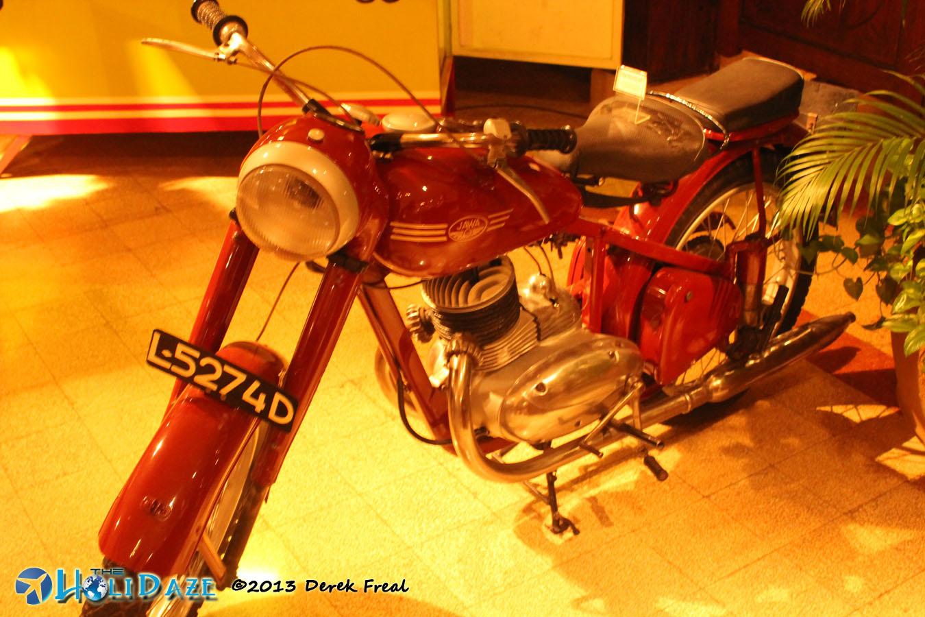 Classic Motorcycle At House Of Sampoerna