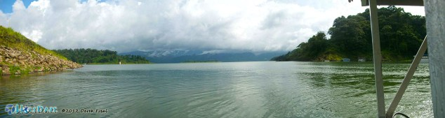Waiting for the ferry across Lake Arenal in Costa Rica