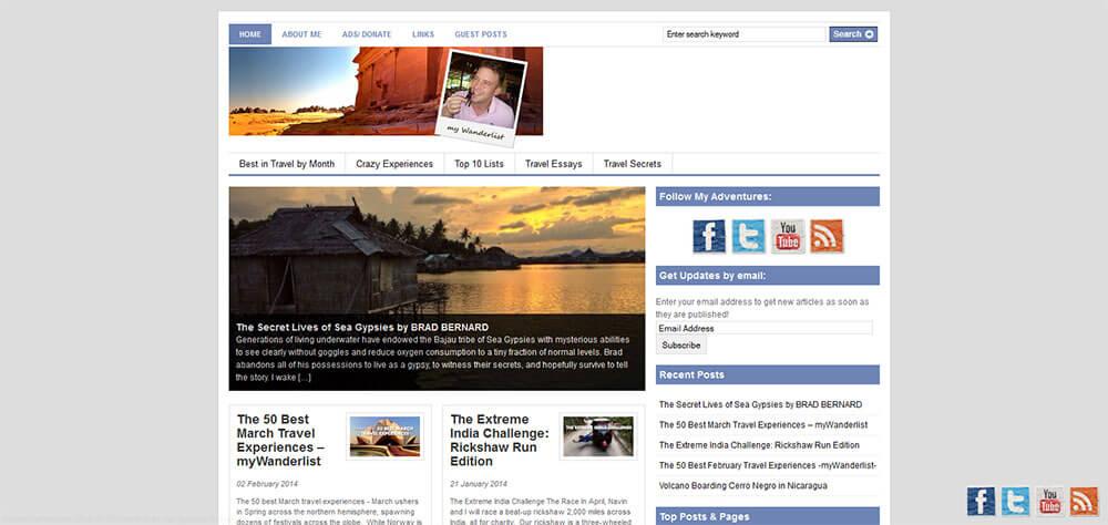 Best New Travel Blogs: My Wanderlist
