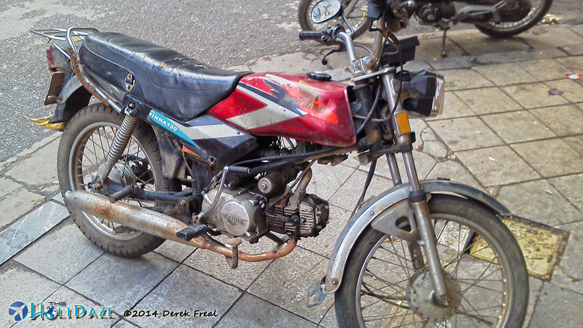 """Rusty"" the Honda Win I used to travel the Ho Chi Minh trail"