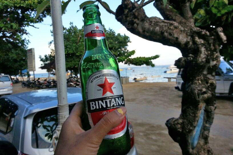 Summer beer in Bali