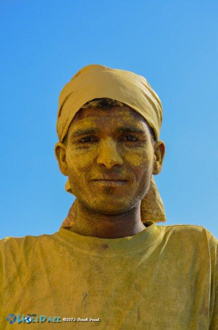 Painter at the Pushkar Camel Fair 2015