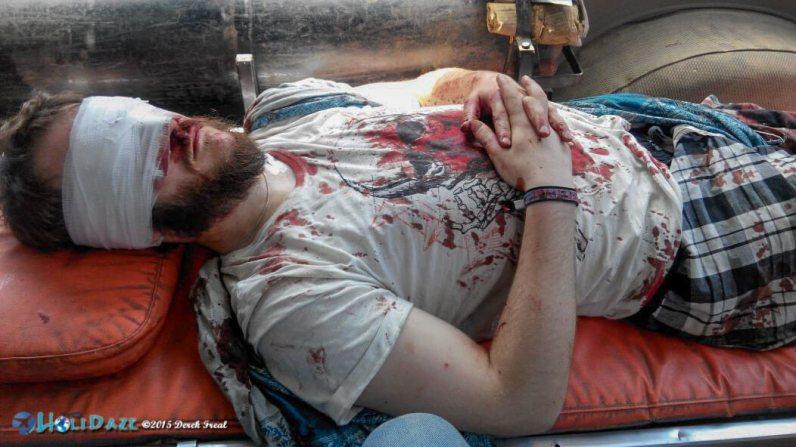 Worst accident on the Rickshaw Run 2015