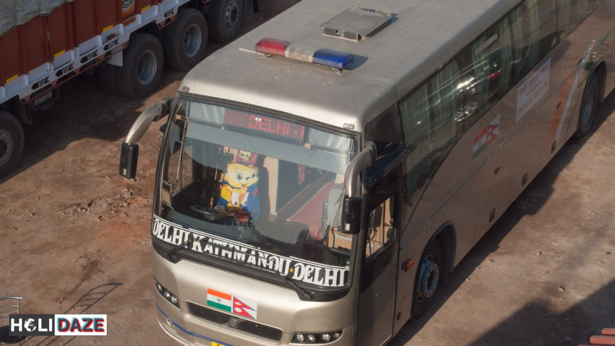 The Delhi Kathmandu Delhi express DTC Merecedes bus....if you're not flying, this is the only way to go!
