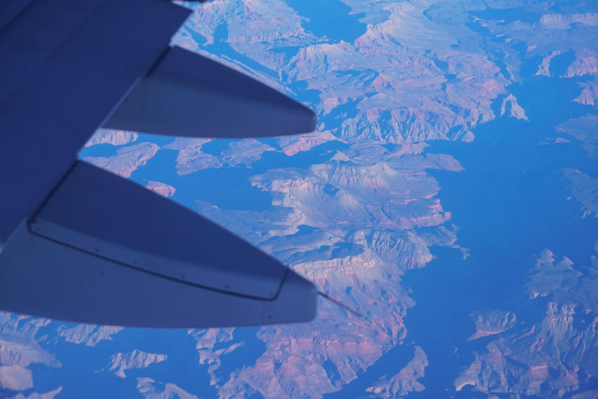 The view from an airplane window is quite nice. Nothing beats air travel.
