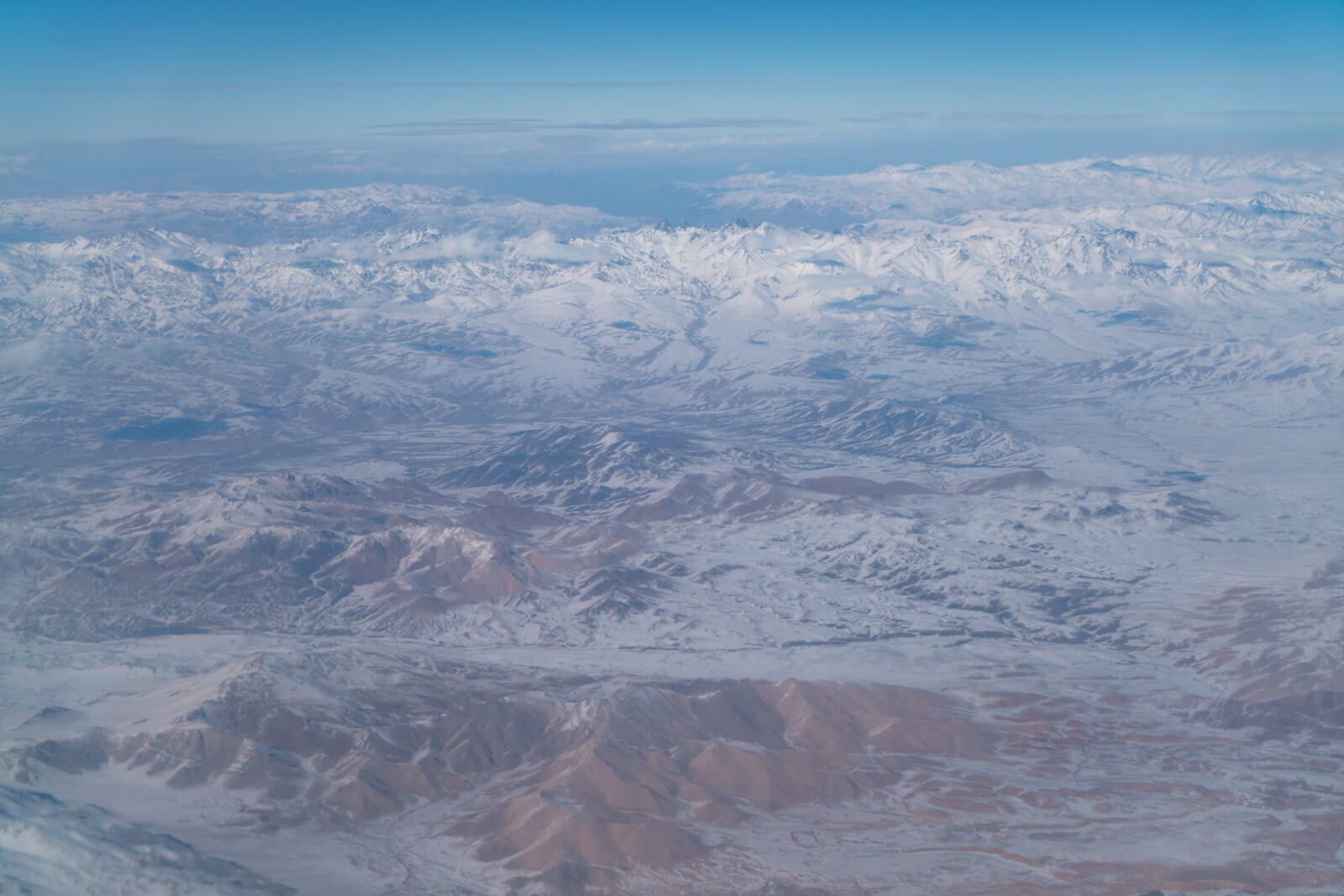 Aerial View of the Bamyan province of Afghanistan, famous for its skiing