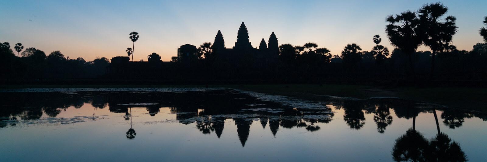 Sunrise at Angkor Wat in Siem Reap, Cambodia