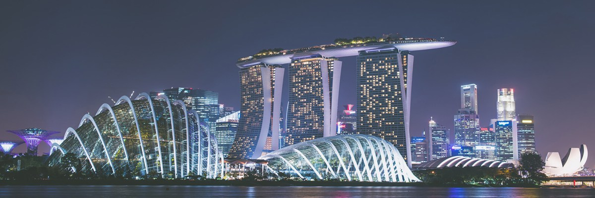 Marina Bay Sands in Singapore at night