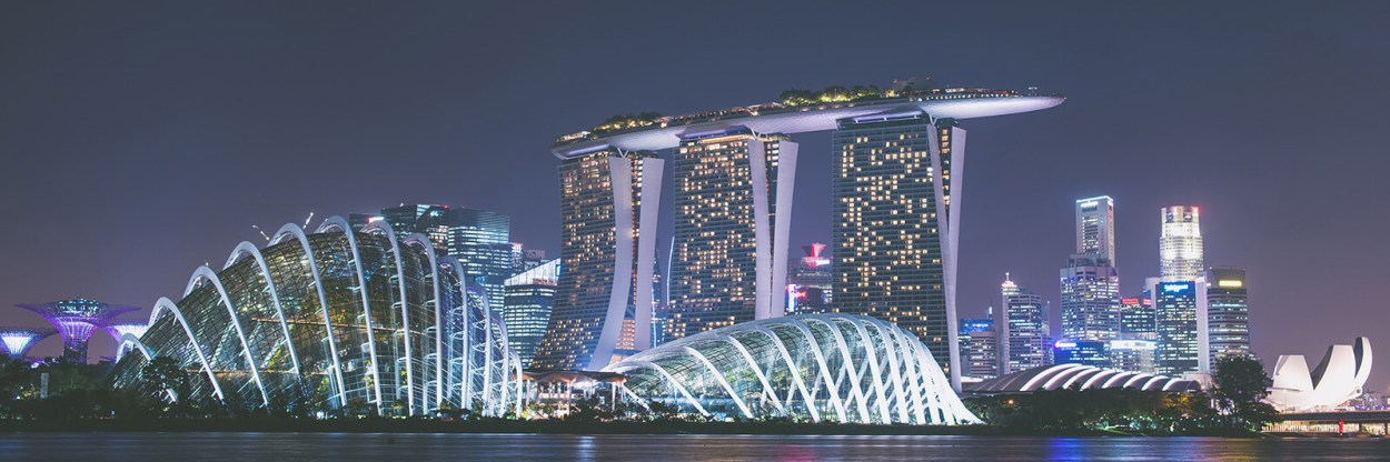 Marina Bay Sands is spectacular at night and a must-see when you visit Singapore.