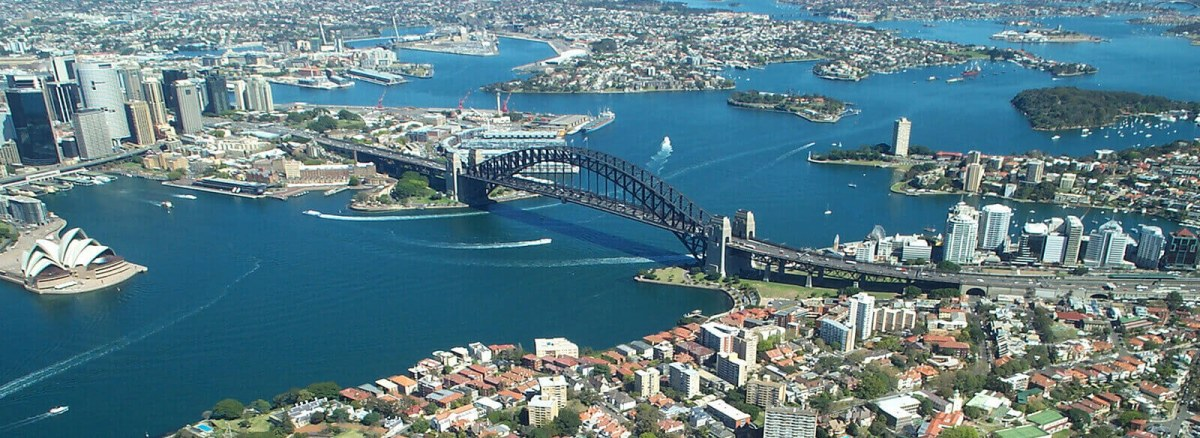 Aerial view of Sydney Harbour, Australia