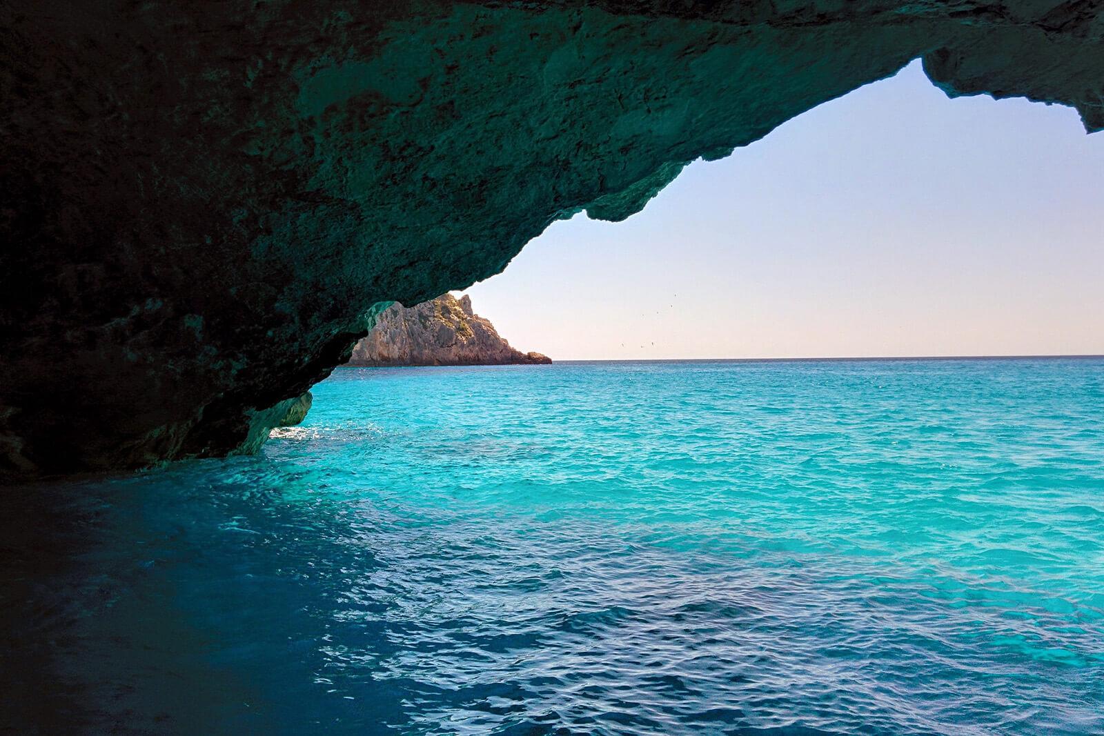 The beautiful Blue Caves of Zakynthos Island, Greece