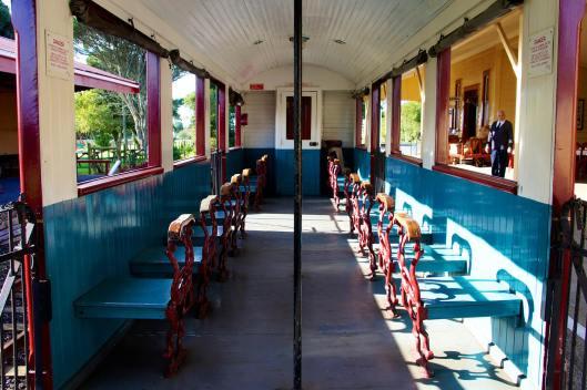 Riding along the Glenbrook Vintage Railway