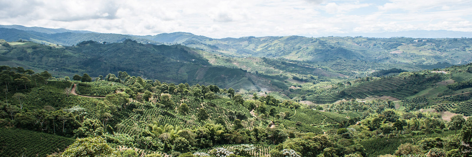 Rolling hills and mountains of Colombia