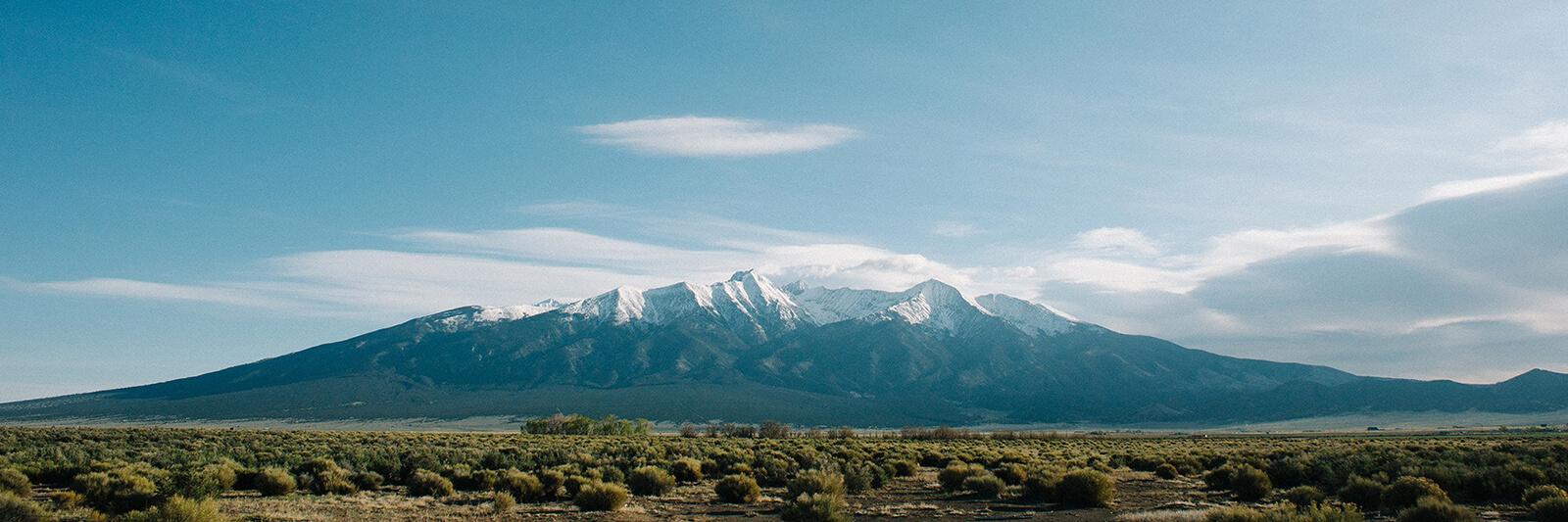 Snow-capped Colorado mountain