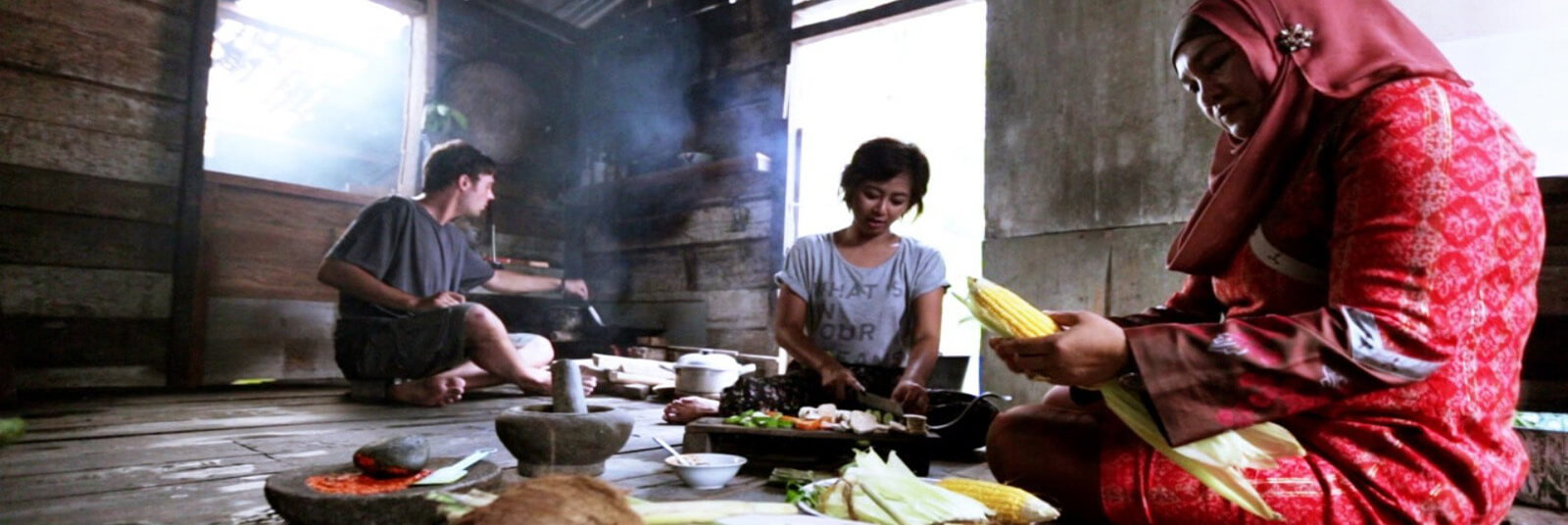 Cooking in Siak, Sumatra, Indonesia