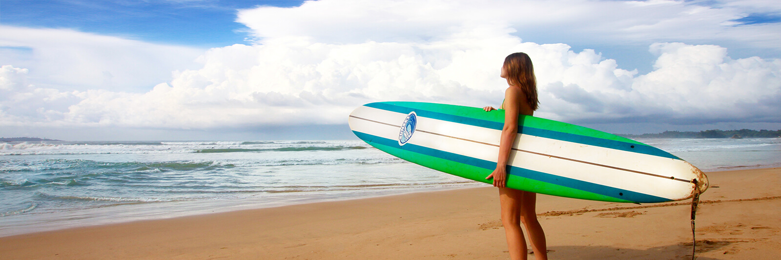 Getting ready to go surfing in Sri Lanka