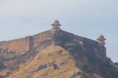 Nahargarh Fort perched on the hill overlooking Jaipur, India