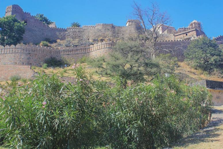 Road to Badal Mahal palace, the centerpiece of Kumbhalgarh Fort, a UNESCO World Heritage Site in Rajasthan, India