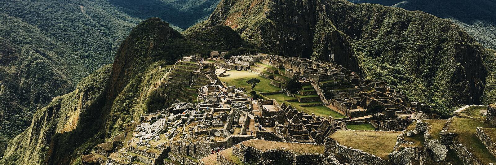 Machu Picchu, high up in the mountains of Peru